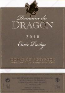 Etiquette - CP 2010 - 75cl