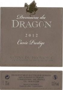 Etiquette - CP 2012 - 75cl