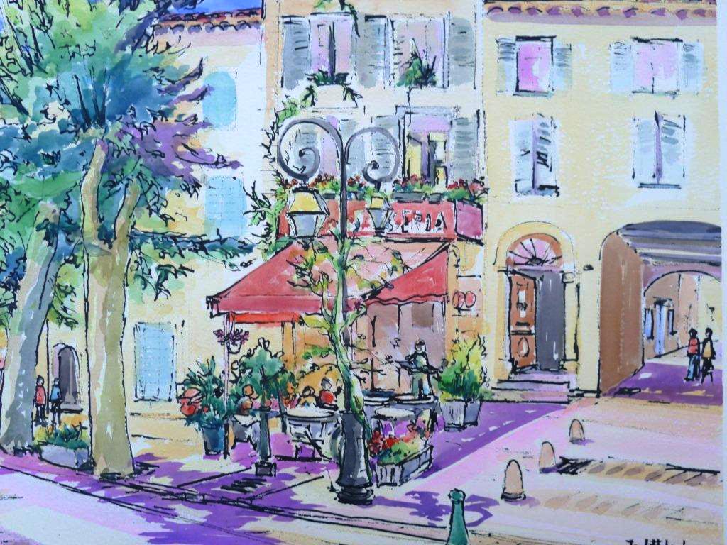 Artiste.jack.robart.exposition.domaine.du.dragon.rosé.aquarel.1