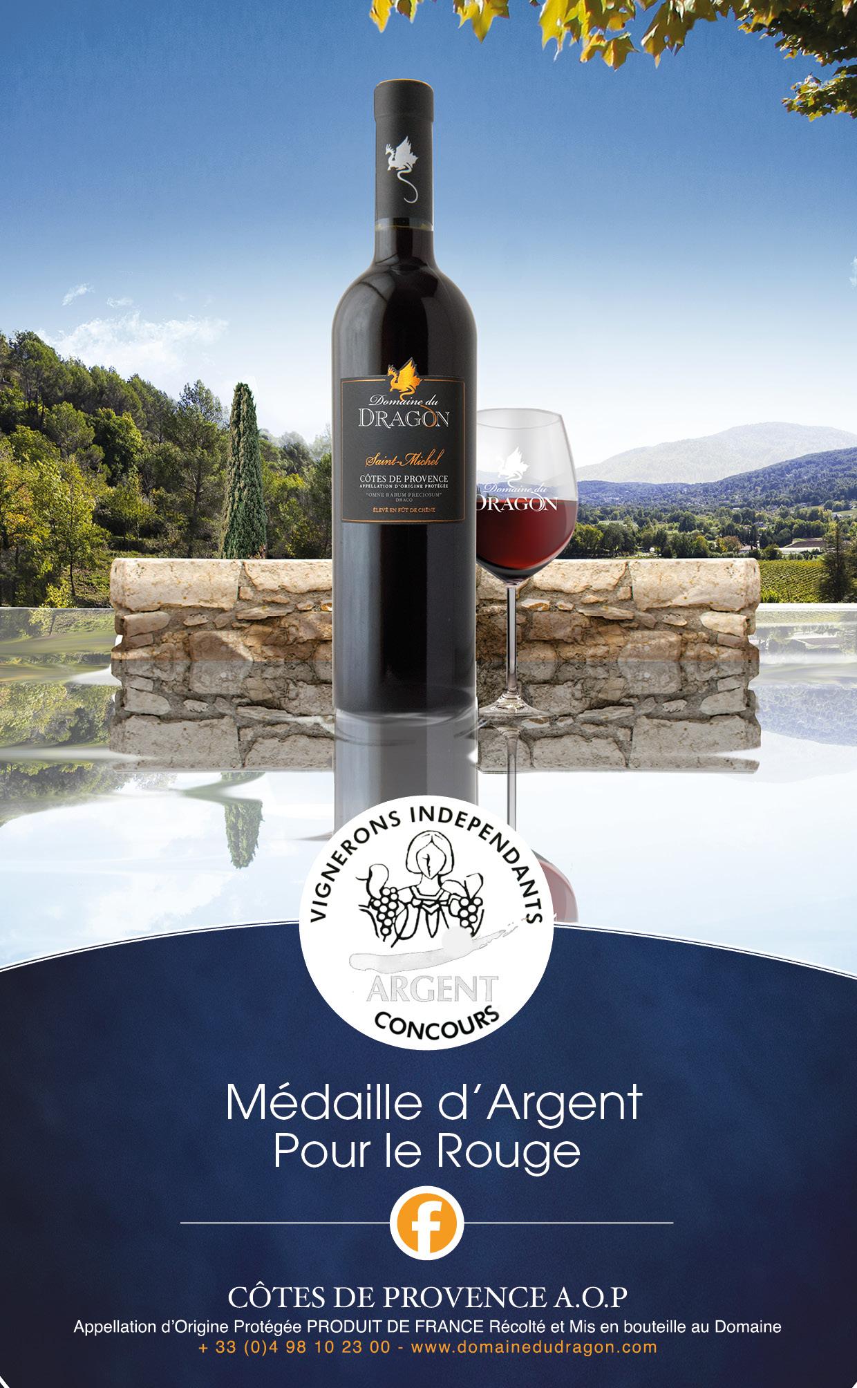 Medaille.recompense.vigneron.independant.2018.vignoble.provencal.Dragon.draguignan3
