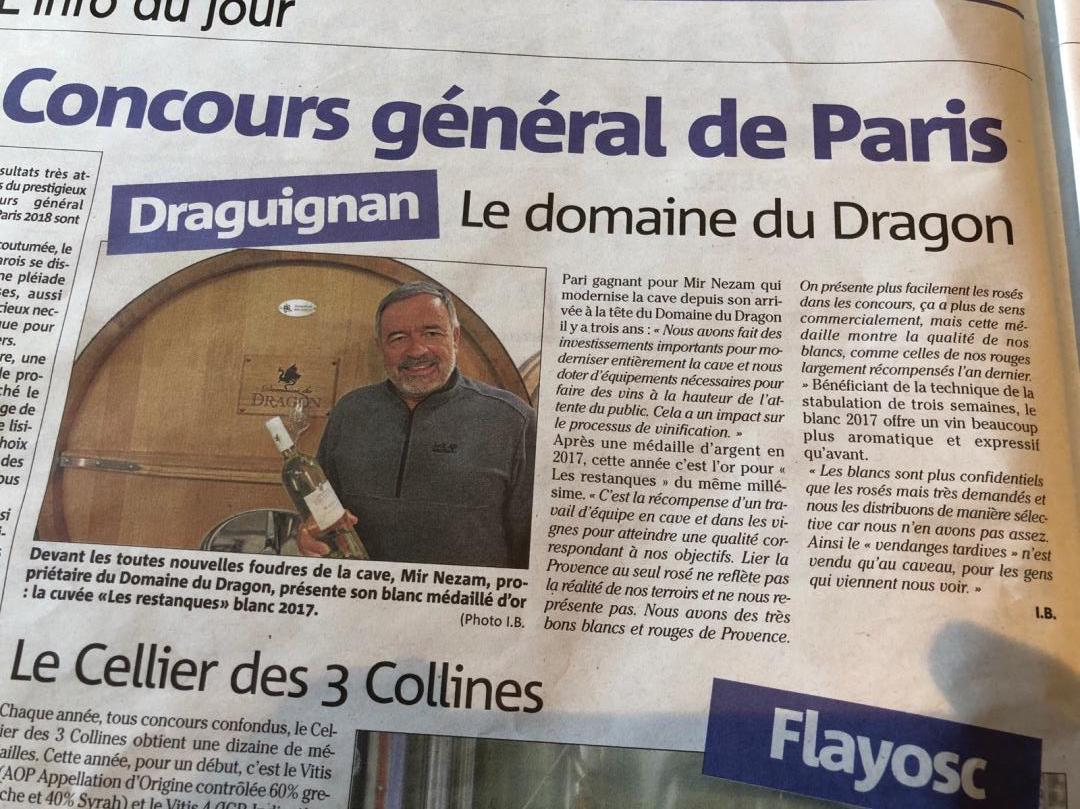 Article.varmatin.Vignoble.Mir.Nezam.domaine.du.dragon
